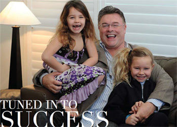 Sean Buckley with his daughters