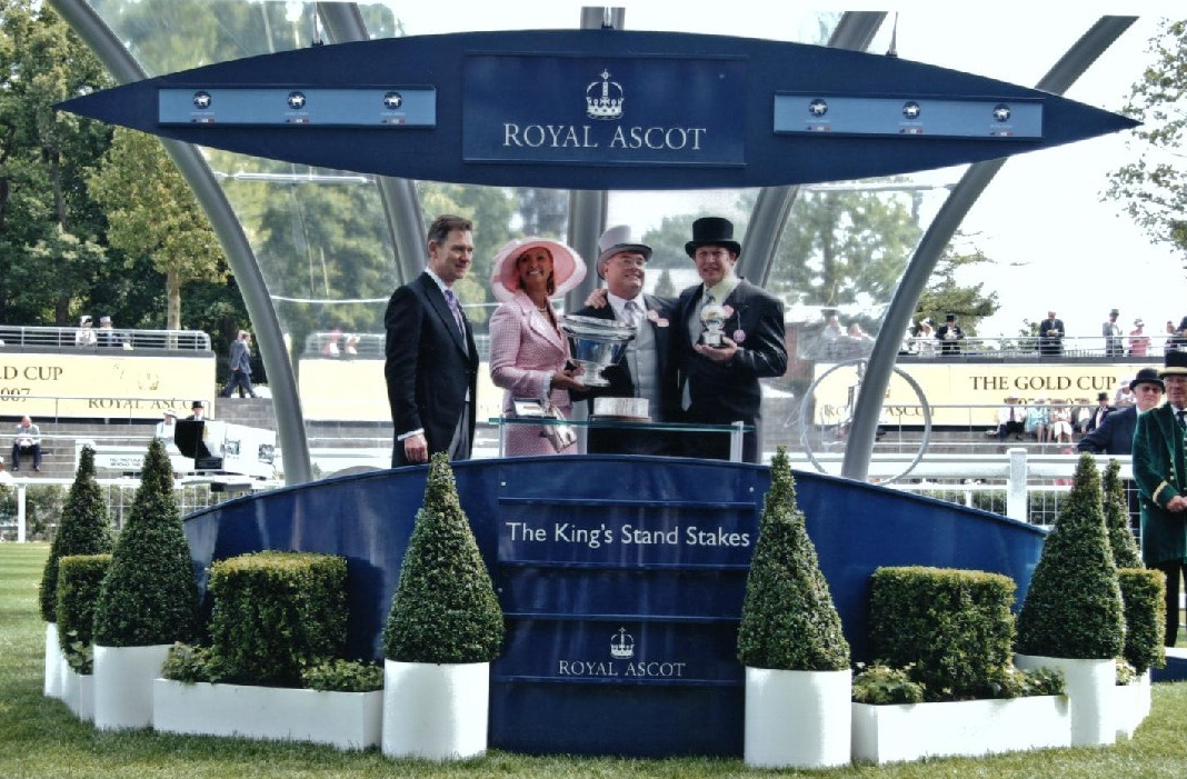 Sean Buckley with Miss Andretti winning at Royal Ascot